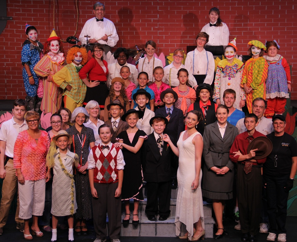 Cast and crew of Fun on 42nd Street