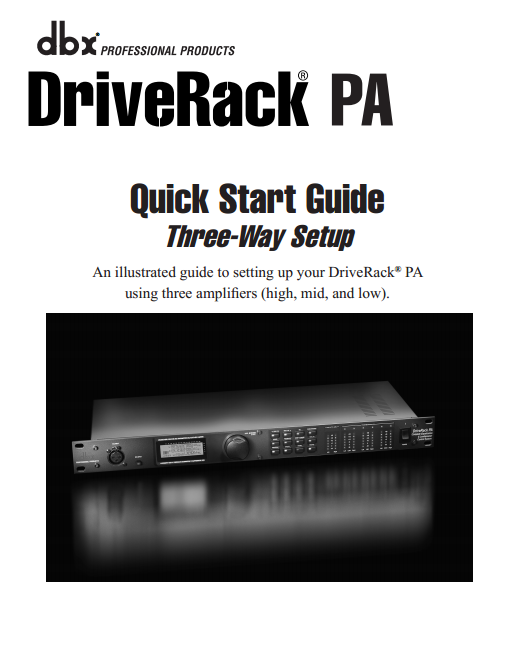 DriveRack PA Speaker Control System Manual