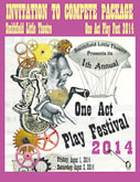 The One Act Play Festival Poster